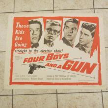 1957 ''Four Boys and a Gun'' 28x22 original Movie Poster...