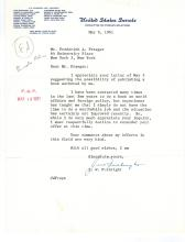 F.W. Fulbright Signed Letter on U.S. Senate Stationary........(April 9, 1905 – February 9, 1995) was a United States Senator representing Arkansas from January 1945 until his resignation in December 1974.  Fulbright was a Southern Democrat and a staunch multilateralist who supported the creation of the United Nations and the longest serving chairman in the history of the Senate Foreign Relations Committee. He was also a segregationist who signed the Southern Manifesto. Fulbright opposed McCarthyism and the House Un-American Activities Committee and later became known for his opposition to American involvement in the Vietnam War. His efforts to establish an international exchange program eventually resulted in the creation of a fellowship program which bears his name, the Fulbright Program.  President Bill Clinton cited him as a mentor.