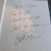 Pete Dye Signed Book....''Bury Me In A Pot Bunker''