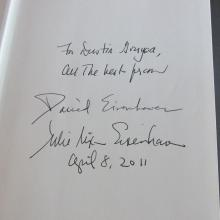 David Eisenhower Signed Book....''Going Home To Glory''