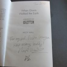 Mick Wall Signed Biography of Led Zepplin