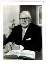 Norman Vincent Peale Hand Signed Photo....Author+Minister.