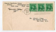 Hervey Allen Hand Signed First Day Cover....Author