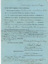 William L. Ritter Hand Signed Document....Civil War Captain
