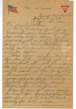 World War I Soldier 1918 Letter Written by Soldier Stanley Sczepanik