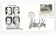 Helmut John Hand Signed First Day Cover...Famed Architect.