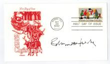 Edmond H. Fischer Signed First Day Cover....Won Nobel Prize.