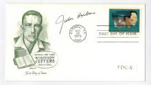Jules Archer Hand Signed First Day Cover...