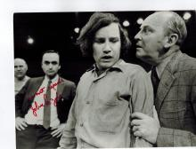 John Cazale Signed Photo.....Scarce image of Cazale who played Fredo in Godfather...Pictured behind a young Richard Dreyfuss..