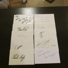 Lot of 10 Golf Signatures.....Ben Wright,Mark Lye,John Cook