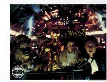 Peter Mayhew, Harrison Ford, and Carrie Fisher Autographed Photo....Star Wars