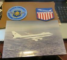 National Emergency Airborne Command Post Signed Photo+2 Patches