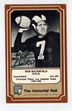 Bob Waterfield Hand Signed Fleer Card....Football HOF.