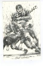 George Musso Hand Signed Photo.....Football HOF