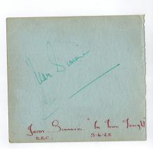 Jean Simmons+David Tomlinson Hand Signed Album Page.