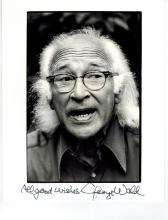 George Wald Hand Signed Photo....Won Nobel Prize in Medicine.