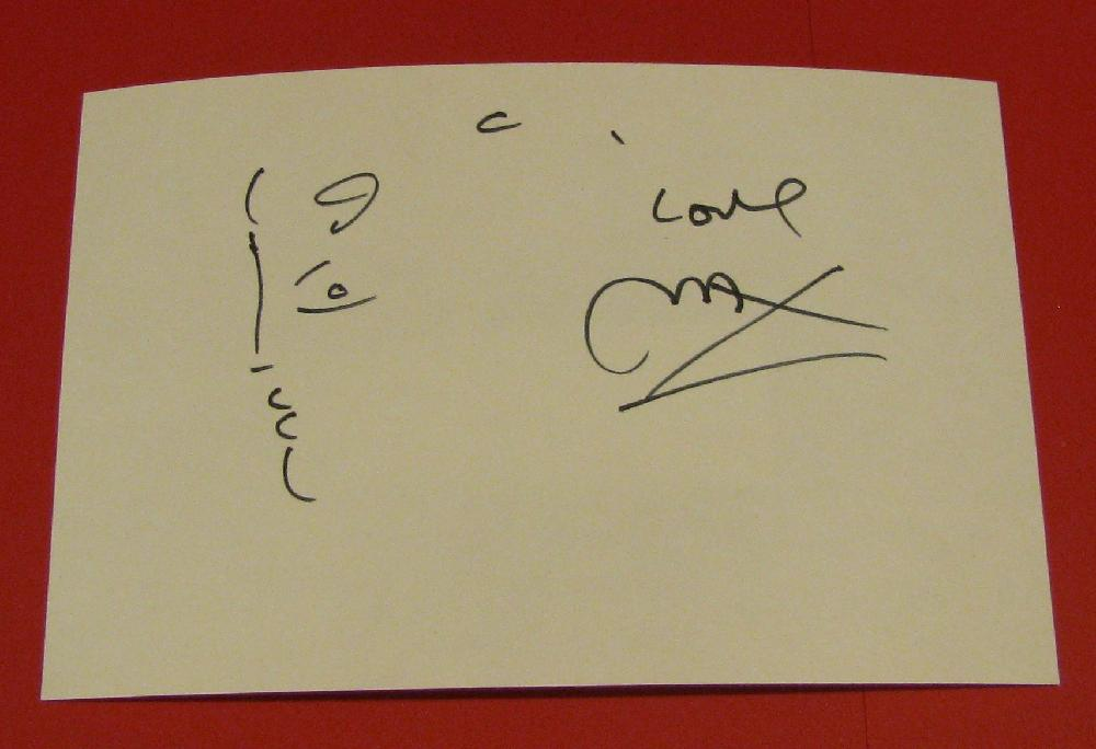 Peter Max Autographed Sketch. American Illustrator & Graphic Artist