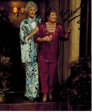 Bea Arthur and Rue McClanahan Hand Signed Photo....''Golden Girls''