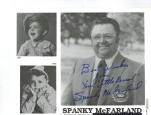 Spanky McFarland Autographed Photo......George