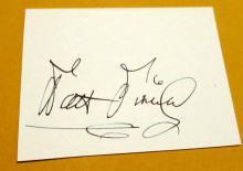 Walt Disney  Autographed Card