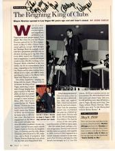 Wayne Newton Autographed Magazine Photo