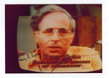 Henry Kolm Autographed Photo...American physicist associated with Massachusetts Institute of Technology (MIT) for many years, with extensive expertise in high-power magnets and strong magnetic fields.