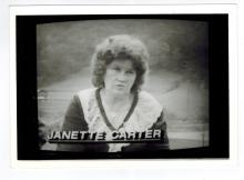 Janette Carter Autographed Photo.....(2 July 1923, Maces Spring, Virginia - 22 January 2006, Kingsport, Tennessee) was the last surviving child of A.P. and Sara Carter, of Carter Family musical fame. In 1976, she and community members built an 880-seat amphitheater, the Carter Family Fold, beside the store her father operated in Southwestern Virginia. Today, the Carter Family Fold attracts more than 50,000 visitors a year. She had three children from her first husband: Donald William (deceased), Rita Janette, and James Delaney (Dale). The surviving two reside in her hometown of Maces Spring, (Scott County) Virginia, which is nestled in Poor Valley at the foot of Clinch Mountain. She was awarded the Bess Lomax Hawes NEA National Heritage Award in 2005 for her lifelong advocacy for the performance and preservation of Appalachian music