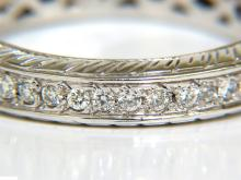 1.50CT ROUND DIAMONDS ETERNITY BAND RING 14KT F/VS SIZE