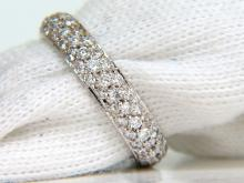 ETERNITY MICRO PAVE 1.00ct DIAMOND BAND HANDMADE 3.90MM