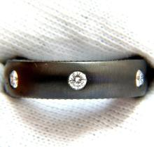 .65CT DIAMOND ETERNITY RING BRUSHED BLACKENED SILVER