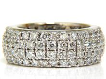 4.00CT FULL CUT DIAMONDS ETERNITY WIDE BAND RING 14KT