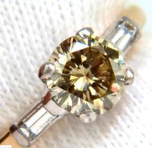 1.24CT ROUND BRILLIANT NATURAL FANCY YELLOW GREEN