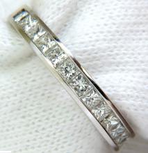 .40CT PRINCESS CUT DIAMONDS BAND RING MODERN CHANNEL