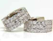 1.00CT CLASSIC HUGGIE EARRINGS 14KT F/VS LEVER SECURE