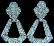 1.50CT CLASSIC DANGLE DIAMOND EARRINGS 14KT CLASSIC