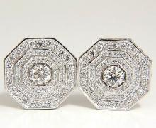 4.00CT BEAD SET ARCHITECTURAL OCTAGONAL STEP DIAMONDS