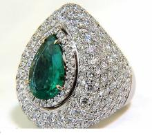 17.60CT 18K NATURAL FINE GREEN EMERALD DIAMOND 3D