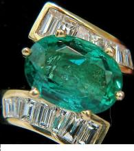7.26CT NATURAL VIVID AAA EMERALD DIAMOND CROSSOVER