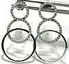 .50CT DIAMONDS CIRCLES EARRINGS14KT MODERN DECO