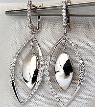 1.26CT DIAMONDS MARQUISE FORM DANGLE & INNER EARRINGS