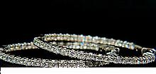 1.3 INCH 1.60CT DIAMONDS HOOP EARRINGS H/VS FULL CUTS