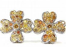 2.50CT NATURAL FANCY COLOR DIAMONDS CLUSTER CLOVER