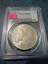 1882O Morgan Silver Dollar - PCGS MS62