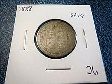 1888 Great Britain Queen Victoria Silver Shilling