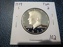 1979S Kennedy Half Dollar - Proof - Type 2