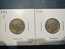 1919S Acid Date and 1920 Buffalo Nickels