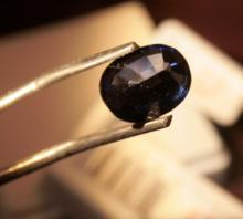 5.24 blue sapphire oval cut