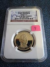 2008S James Monroe Presidential Dollar NGC PF69 Ultra Cameo