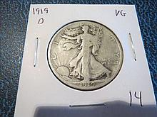 1919D Walking Liberty Half Dollar
