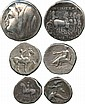 ANCIENT COINS. Greek. Calabria, Tarentum (3rd